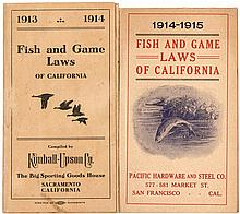 Six copies of California Fish & Game Laws, issued by various sporting goods stores, government entities, etc.