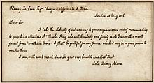Autograph letter of introduction from John Quincy Adams to Henry Jackson, U.S. Charge d'Affaires at Paris