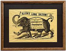 Advertising Broadside for Allen's Lung Balsam
