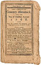Poor Roger, 1768. The American Country Almanack, for the Year of Christian Account 1768.