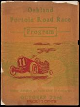 Oakland Portola Automobile Road Race Under the Auspices of the Automobile Club of California - program