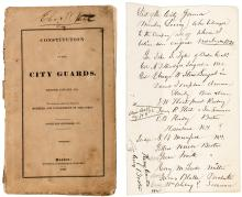 Constitution of the City Guards. Revised January, 1829. To which are added the names of members and government of the corps.