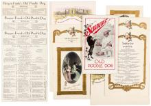 Group of menus and ephemera from Bergez-Frank's Old Poodle Dog restaurant