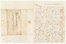 Autograph Letter Signed - 1850 San Francisco to a Mormon Island Miner