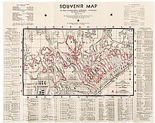 Souvenir Map and Guide to Starland Estates and Mansions:A fascinating trip through movieland