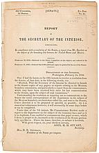 Report of the Secretary of the Interior, communicating...a report from Mr. Bartlett on the subject of the boundary lines between the United Sates and Mexico
