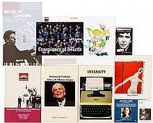 Small group of Leonard Cohen titles and ephemera