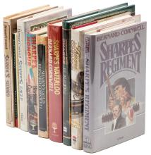 Ten Sharpe volumes, seven signed by Bernard Cornwell