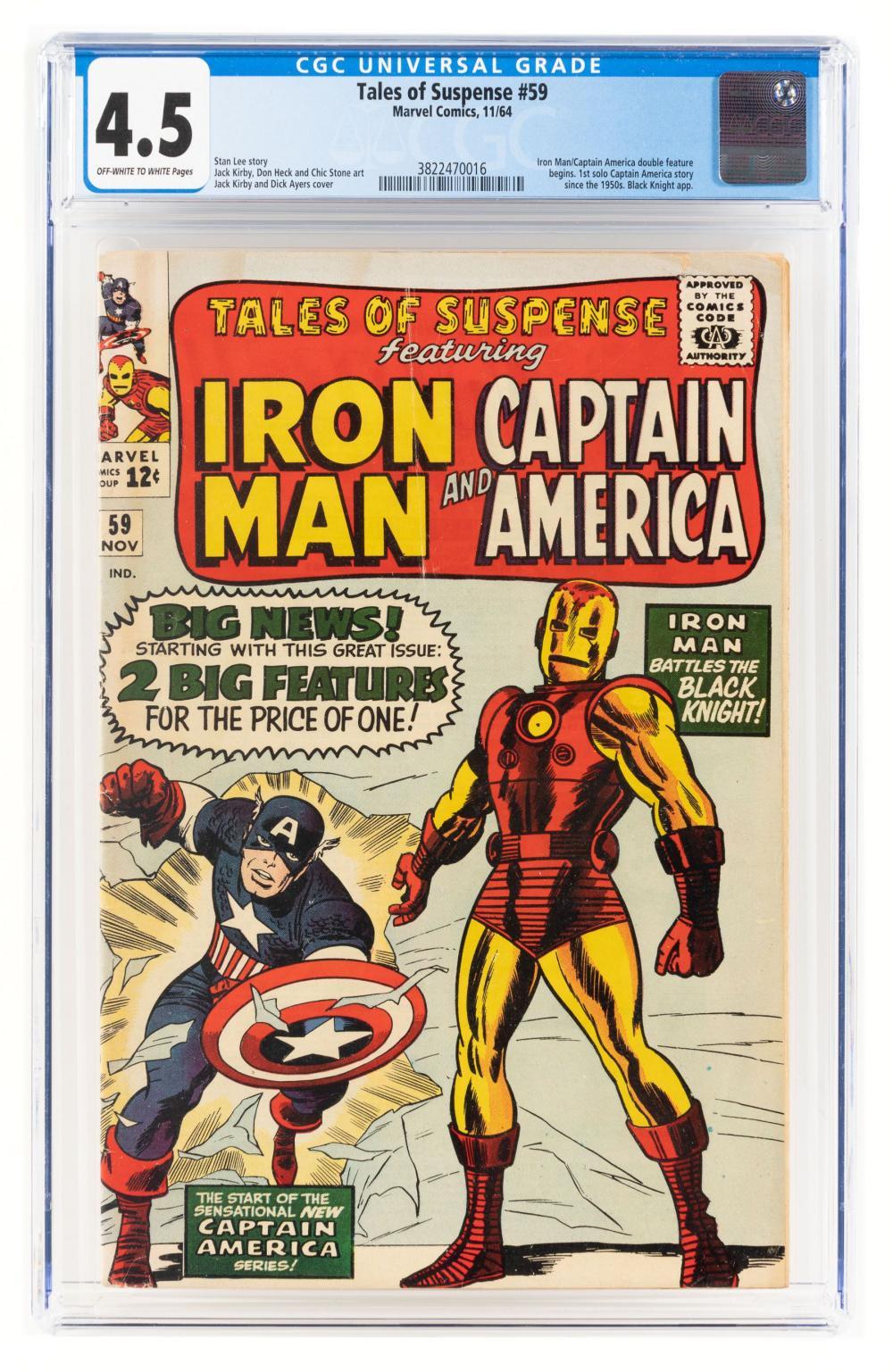 TALES OF SUSPENSE #59 * CGC 4.5 * Cap and Iron Man