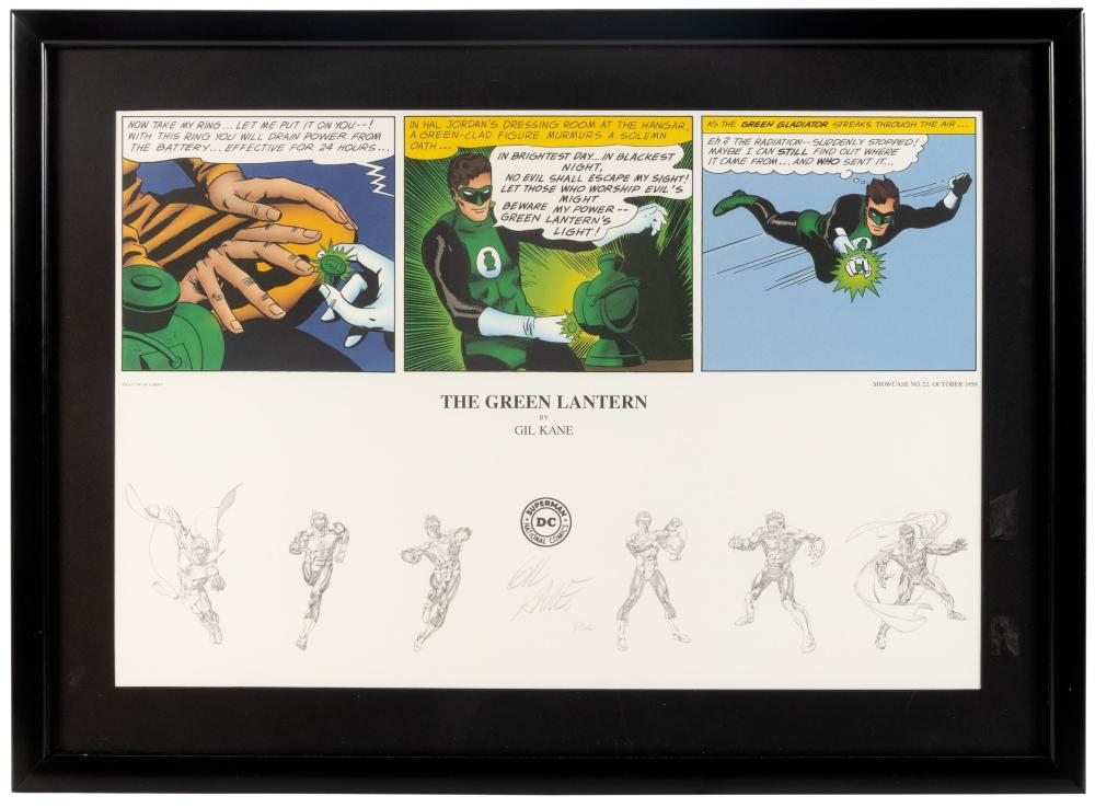 GREEN LANTERN Signed Ltd Print * GIL KANE * WB Studio Store Exclusive