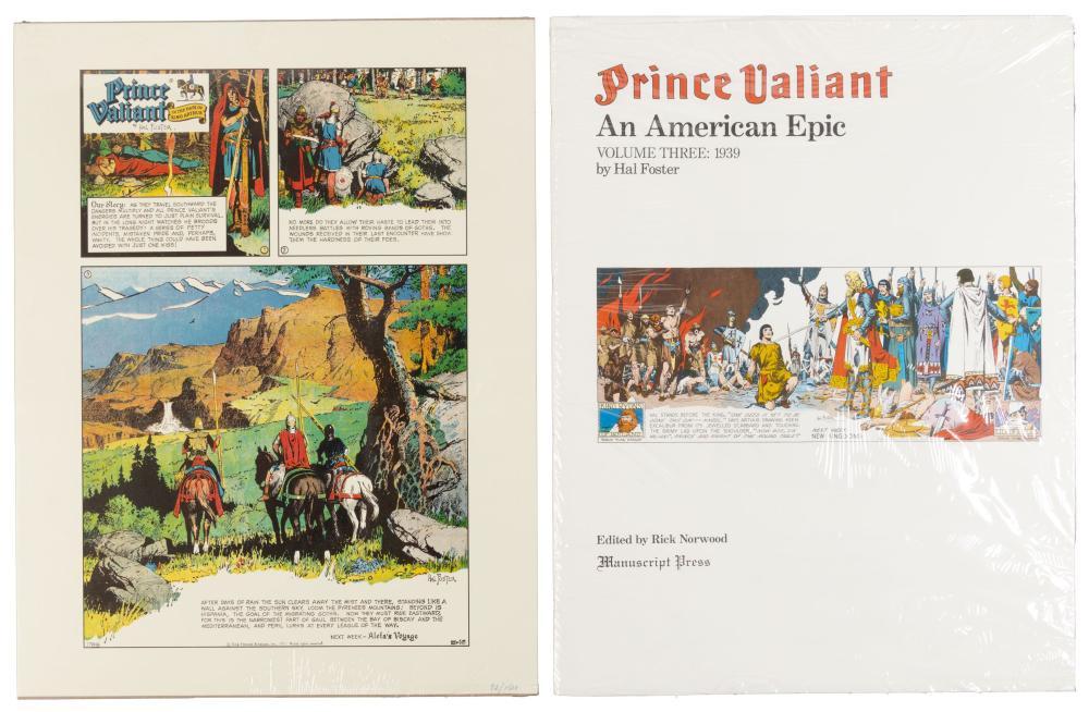 PRINCE VALIANT: AMERICAN EPIC Vols 1-3 plus Large Print * Hal Foster