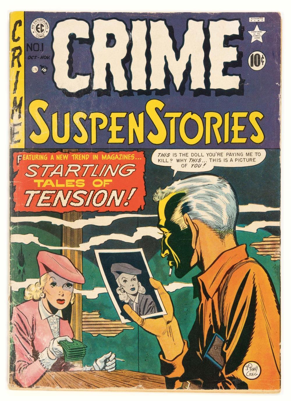 CRIME SUSPENSTORIES #1 * 1.5 * 1st State Variant * Color Touch