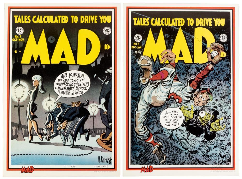 Pair of MAD Ltd Signed Prints * DAVIS and KURTZMAN * 500 Copies
