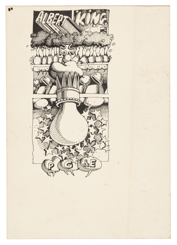 RICK GRIFFIN Original Rock Poster Art * Janis Joplin / Albert King 1968