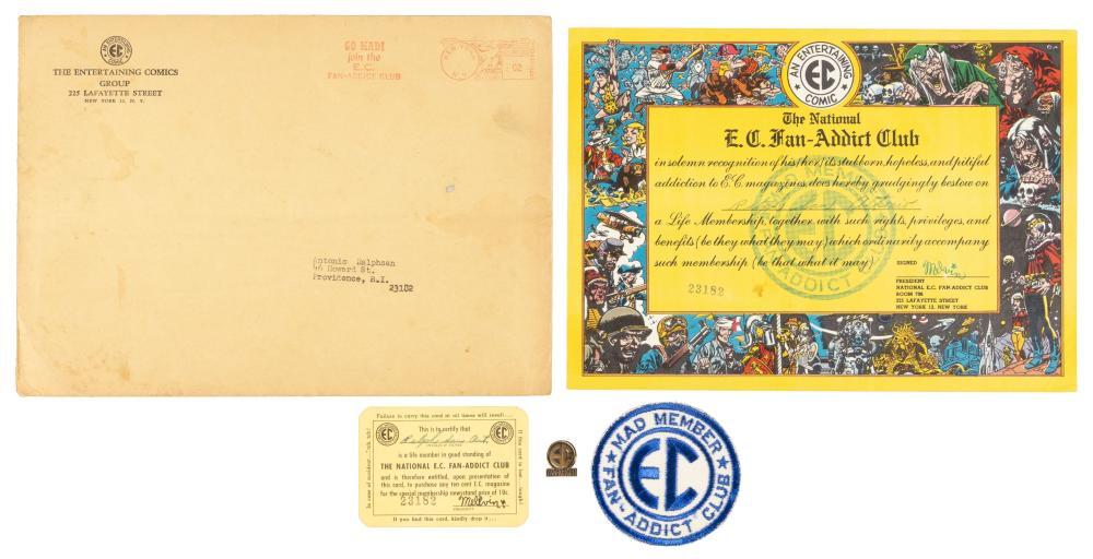 Original EC FAN-ADDICT CLUB Membership Kit * Complete with Pin and Envelope