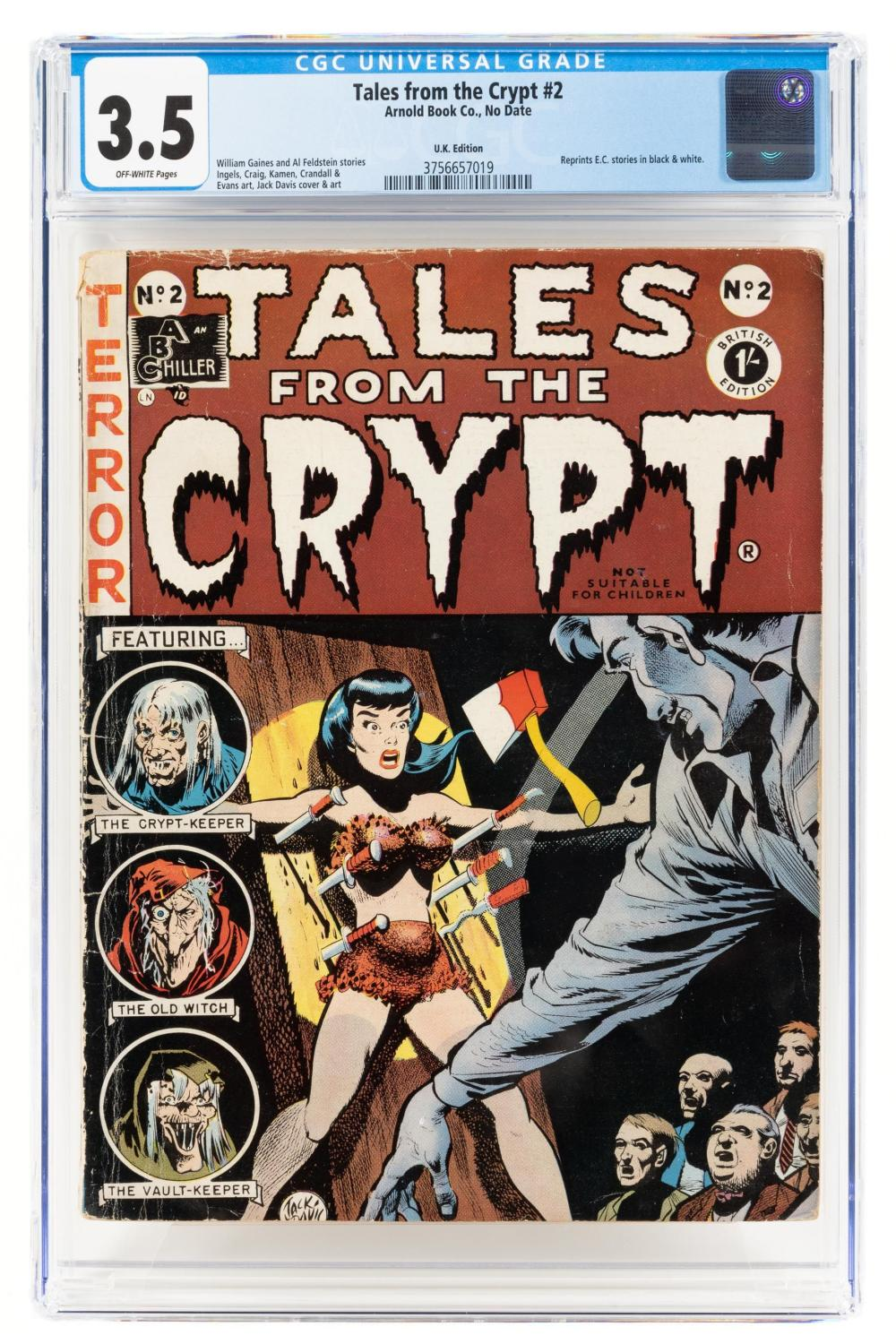 TALES FROM THE CRYPT #2 * CGC 3.5 * UK Edition * ABC * Only 3 CGC Copies