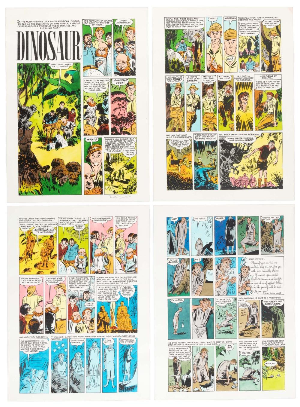 "MARIE SEVERIN Hand-Colored Printer's Proof, Krigstein's ""Dinosaur"""