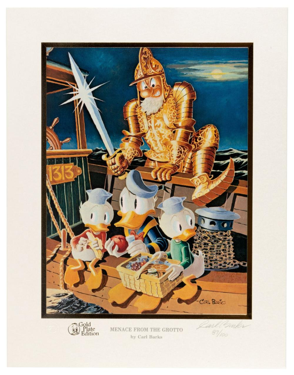 CARL BARKS Signed Limited Litho * Ghost from the Grotto