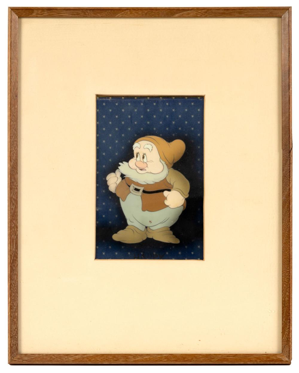 Disney Cel, SNOW WHITE * Happy the Dwarf * Courvoisier * 1937