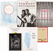 Eight volumes of works by Ginsberg, Burroughs and other Beat writers