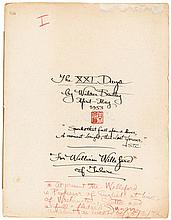 The XXI [-LXVII] Days by Wilder Bentley - three manuscript fascicles
