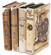 Four non-Tarzan titles by Edgar Rice Burroughs published by Grosset & Dunlap