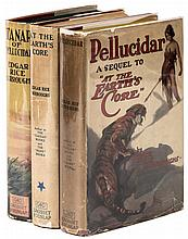 The first three Pellucidar novels in first Grosset & Dunlap editions