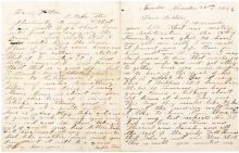 Autograph Letter Signed - 1856 Miner in Nevada City Quartz Mill
