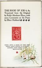 The Book of Job - One of 40 copies illuminated by Bertha C. Hubbard