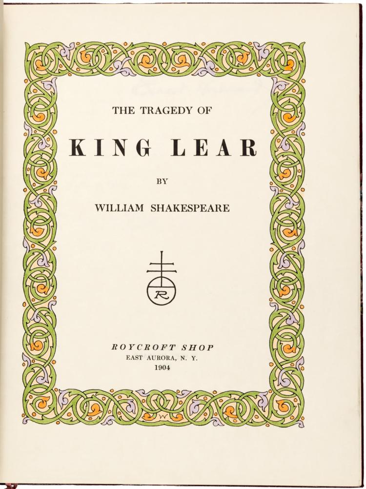 The Tragedy of King Lear - One of 100 copies on Japan Vellum