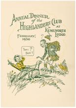 Annual Dinner of the Highlanders Club at Kenilworth Lodge, February, 1930