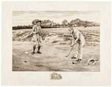 Stymied - print signed by W. Dendy Sadler and James Dobie