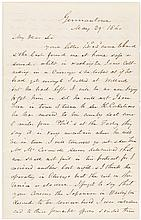 Autograph Letter Signed, from John Skirving to Jordan Mott, about the making of the first classic work of art to pay tribute to American invention and technology