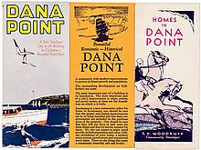 Small archive of items relating to the town of  Dana Point on the Pacific coast in Orange County, California, and its development