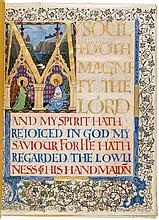 The Magnificat - Illuminated Manuscript on Vellum