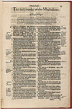 The first [seconde] booke of the Machabees - from the third folio edition of the Bishops' Bible