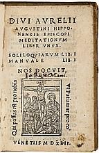 Divi Aurelii Augustini Hipponensis Episcopi Meditationum Liber Unus