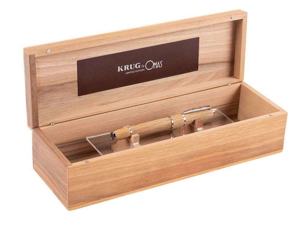 OMAS Oak & Silver KRUG Ltd Fountain Pen