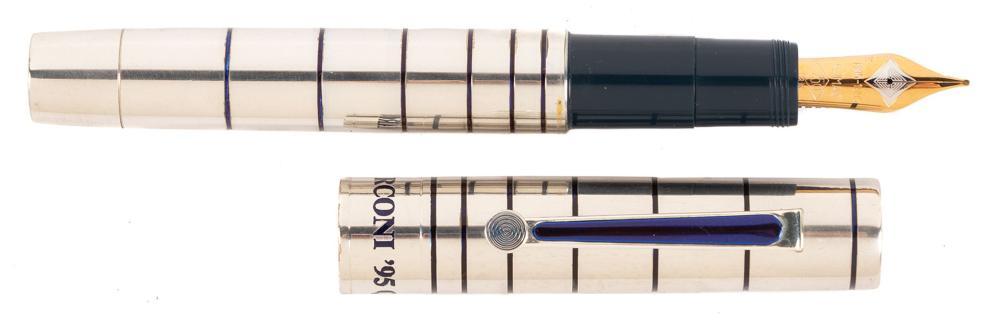 OMAS 100 Anni di Radio ELLETRA Sterling Silver Ltd Ed Fountain Pen