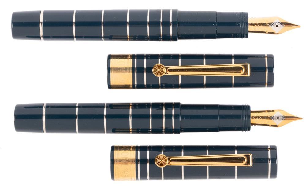 OMAS 100 Anni di Radio PAIR of Ltd Ed Fountain Pens