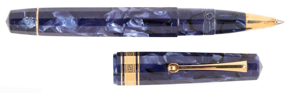 OMAS Blue Celluloid Rollerball Pen