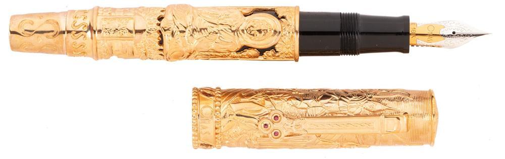 OMAS Rare TRIRATNA Rose Gold Ltd Ed Fountain Pen