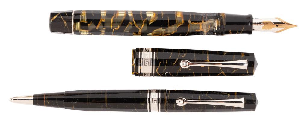 OMAS Black & Gold EXTRA LUCENS Fountain Pen & Pencil Ltd Ed Set