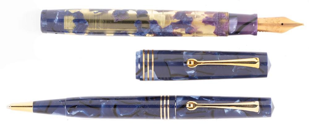 OMAS Blue LUCENS Fountain Pen & Pencil Ltd Ed Set