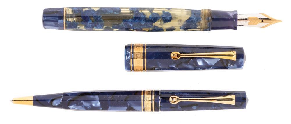 OMAS Blue EXTRA LUCENS Fountain Pen & Pencil Ltd Ed Set