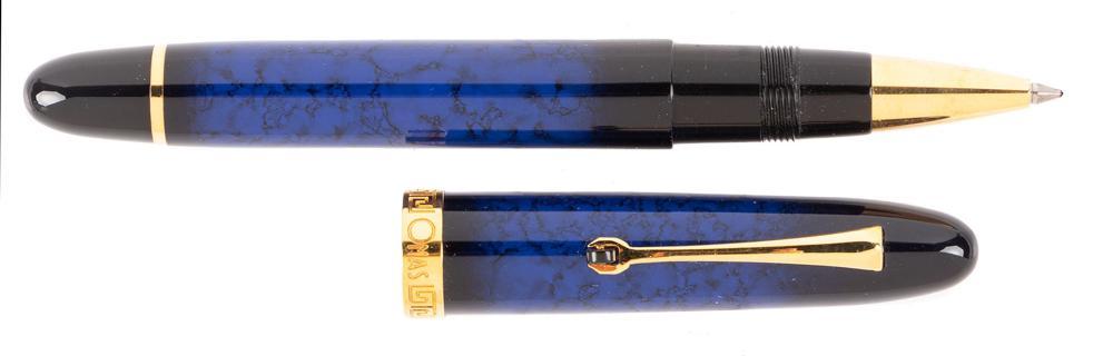 OMAS Blue Lacquer Rollerball Pen