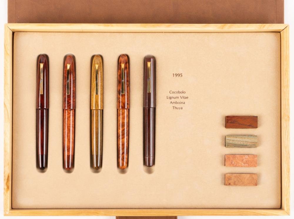 OMAS Legni PREGIATA Ltd Ed Set of 15 Precious Wood Fountain Pens