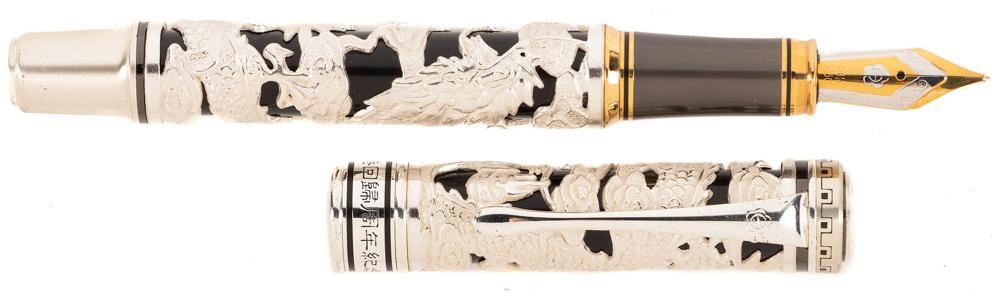 HERO Hong Kong DRAGON Sterling Silver Ltd Fountain Pen