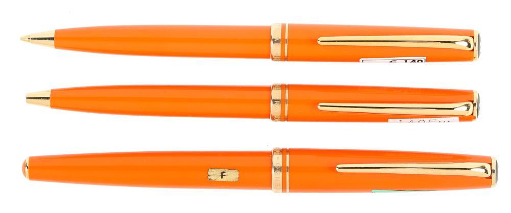 MONTBLANC Orange GENERATION Set of Three Instruments