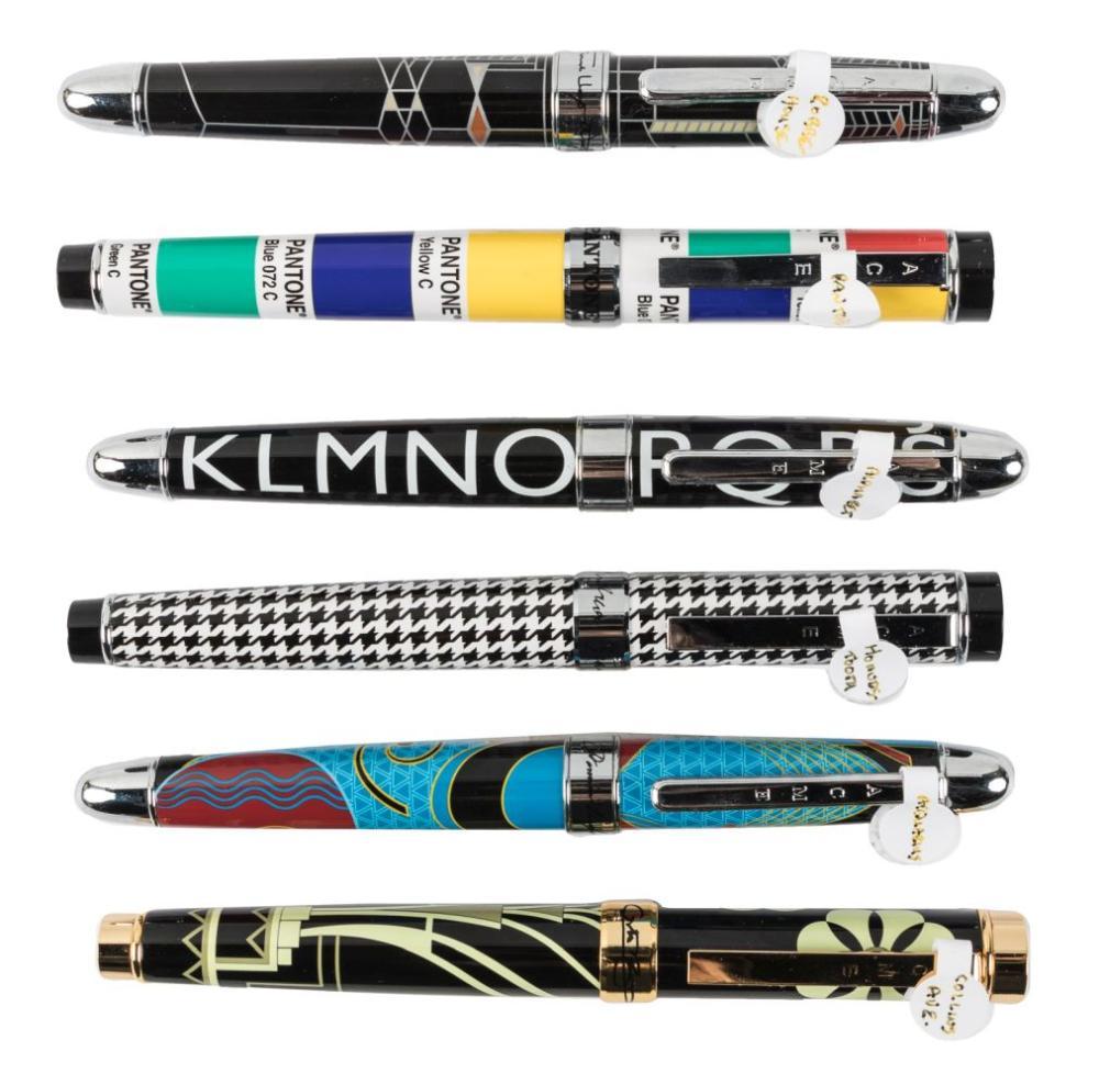 ACME Lot of Six Designer Fountain Pens